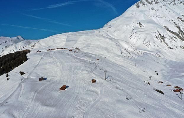2019, Woche 14, Skigebiet Milez Tschamut oberhalb Rueras Sedrun
