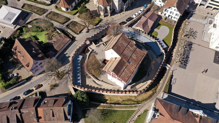 Nr. 305 / 2018 / Zug, Burg von Oben /6000 x 4000 / JPG-Datei