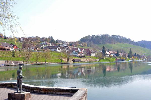 Nr. 5014/ Woche 14 / Eglisau, Blick vom linken Ufer, Flussaufwärts/ 6000 x 4000 / JPG-Datei