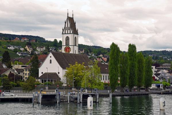 Nr. 5119 / Woche 19 / Meilen am Zürichsee, Steg Fähre, Kirche