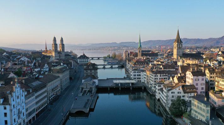 2020 Woche 16, Zürich an Ostermorgen, Lockdown