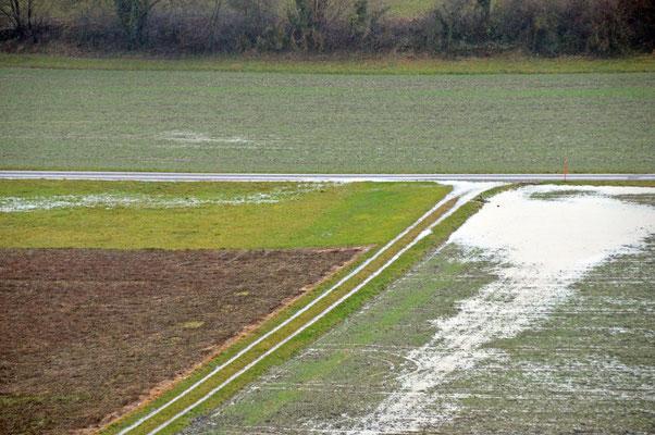 5304 / Woche 4 / Überflutete Felder bei Dielsdorf