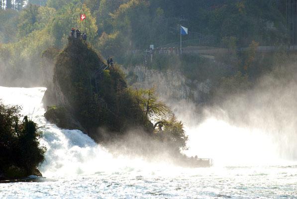 Nr. 206 / 11.10.10 / Neuhausen Rheinfall Aussichtspunkt auf Insel/ 3872 x 2592 / JPG-Datei