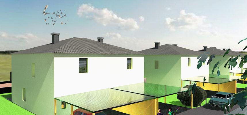 Doppelhäuser in Wöllersdorf
