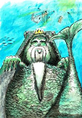 König Ortheus (Fineliner und Tusche)