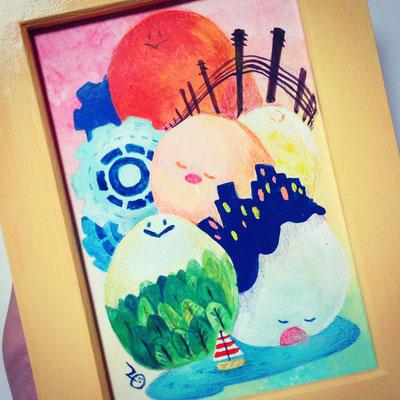 2014 オリジナルキャラクター「ぷにぷに」 『眠らない街』