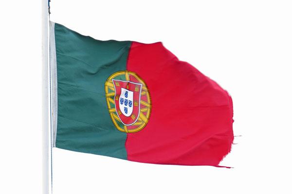 Die Flagge Portugals und damit auch der Azoren