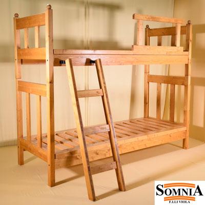Letti a castello in legno massello - Somnia F.lli Viola