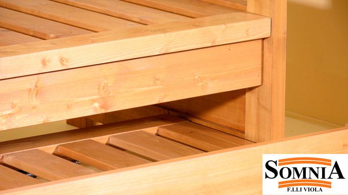 Divani in legno con reti estraibili - Somnia F.lli Viola