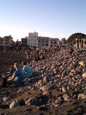 La Playa, zum Sonnenuntergang