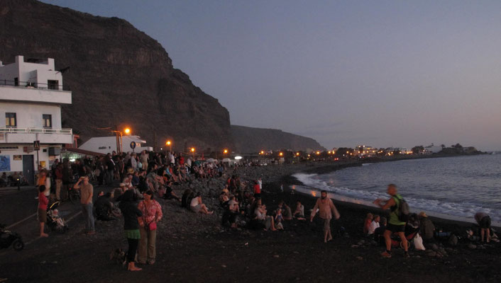 La Playa, Sonnenuntergang