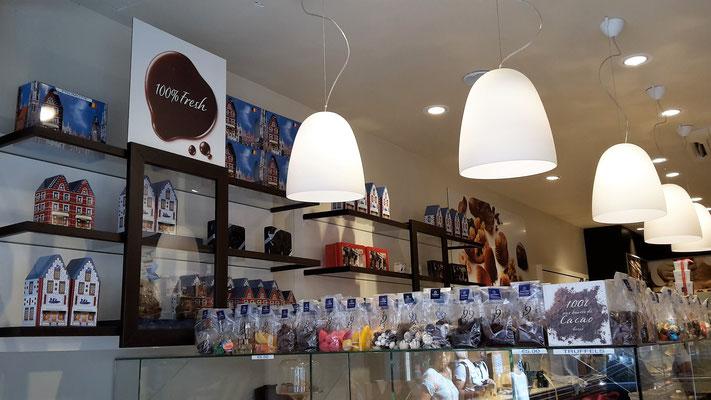 boutique de friandises et chocolats de Bruges