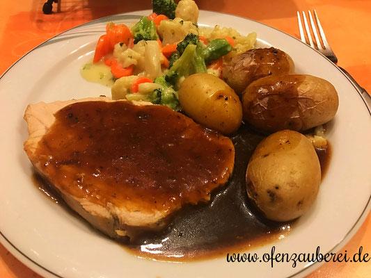 Putenbraten mit Kartoffeln aus Ofenmeister und kleinem Zaubermeister von Pampered Chef®