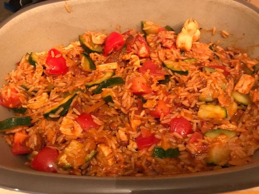Toskanischer Reisauflauf mit Gemüse aus der Ofenhexe von Pampered Chef®