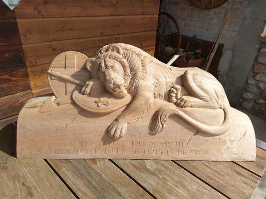 Auftragsarbeit: Löwendenkmal aus Luzern