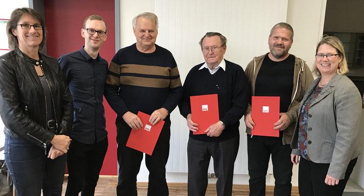 Von links: Franziska Kersten, Florian Gereke, Karl-Heinz Purps, Horst Tober, Michael Milde und Susi Möbbeck