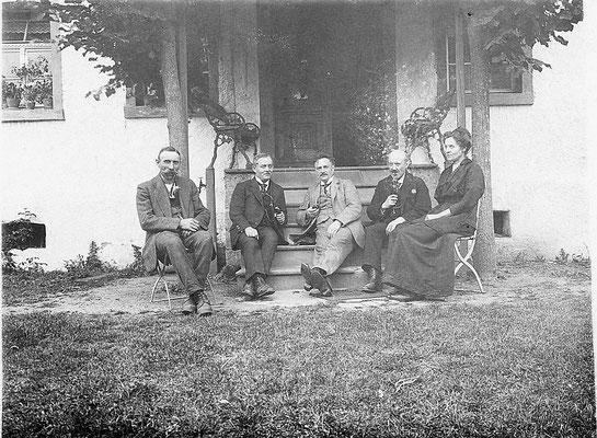 Besuch beim Ehepaar Sternberg um 1920