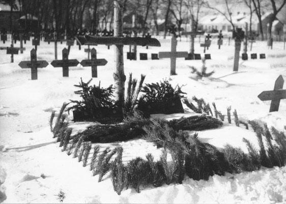 Wilhelm Grabstätte auf dem Soldatenfriedhof Krasnograd (Ukraine)