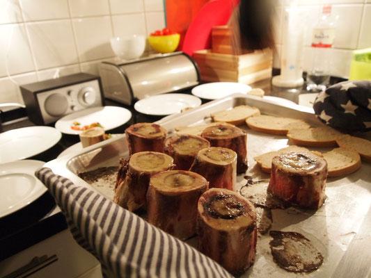 Markknochen aus dem Ofen
