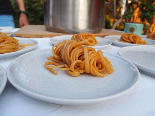 Die Miso Pasta ist auch fertig