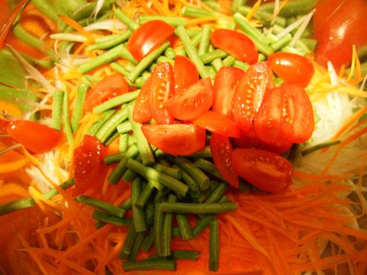 Stefans Salat nimmt Formen an