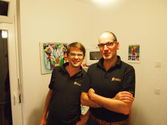 Marcel und Marco ... nach einigen leckeren Gerichten ... gut gelaunt