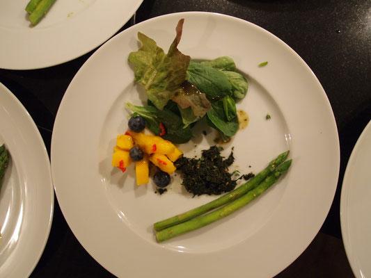 keativ und viele geschmackliche Aromen auf einem Teller vereint