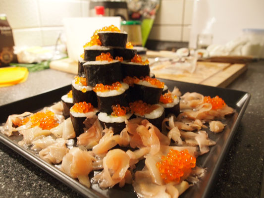 weihnachtliches Sushi