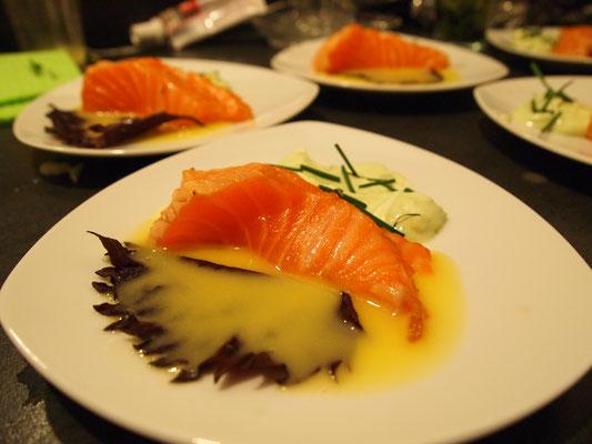 jetzt kommt Jochens Lachs Sashimi