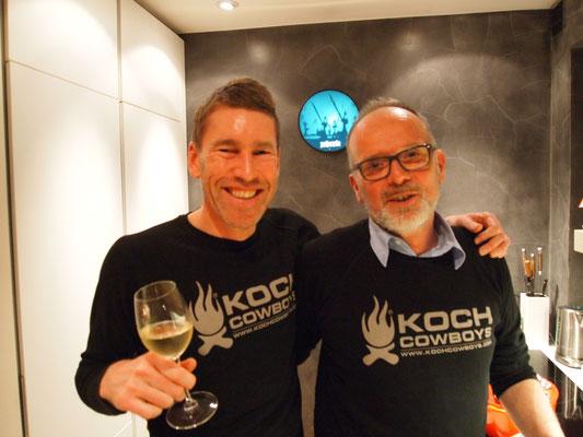 Gastgeber Jan und Michel