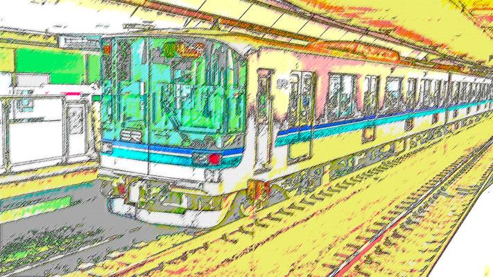 流浪流転の旅人⑨なかさん★ 色鉛筆スケッチ画風02