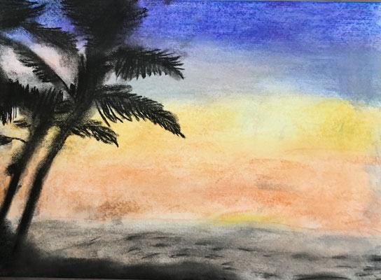 くみぱんつ_ハワイの夕焼け