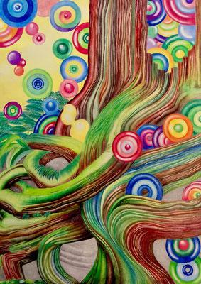ふにゃくし 平和の象徴 大樹の根