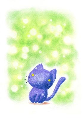 夢に浮かぶ黒猫ちゃん