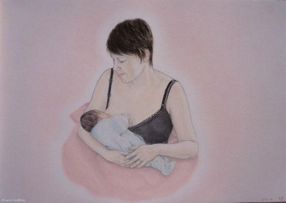 ©Art en Vrac - Lucie Geoffroy - dessin aux pastels secs format A3