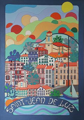 Saint-Jean-de Luz - 70x100 - acrylique