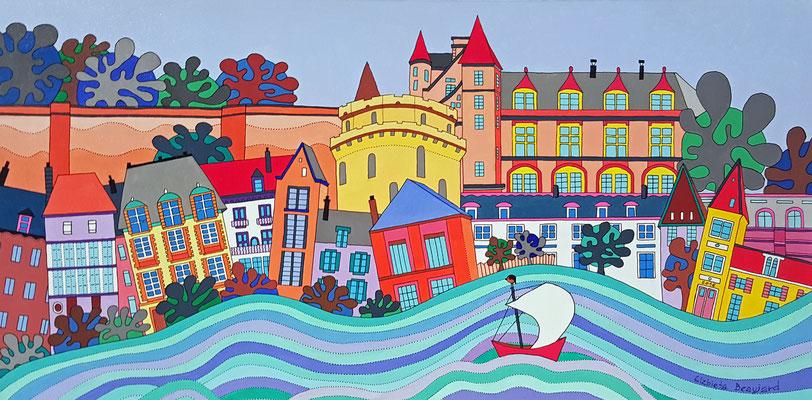 Amboise - 100x50 - acrylique