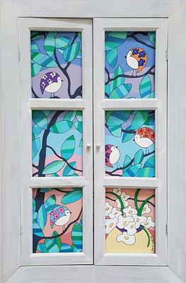 La vue de ma fenêtre – 38 x 62 - acrylique