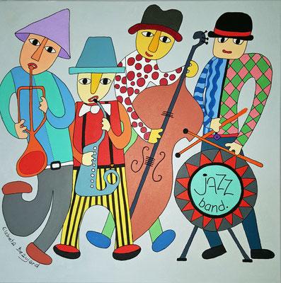 Jazz band - 50x50- acrylique