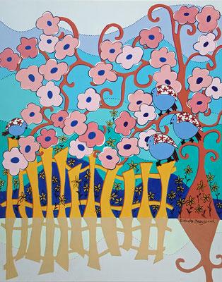 La palissade (inspiration Mallarmé)-  62 x 80 – acrylique