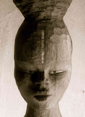 Africaine - Sculpture sur bois - Chêne - Manon Cherpe