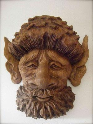 Nain de la forêt - Sculpture sur bois - Chêne - Manon Cherpe