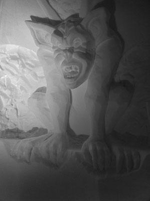 Gargouille - Sculpture sur neige - Village Igloo Les Arcs - Manon Cherpe