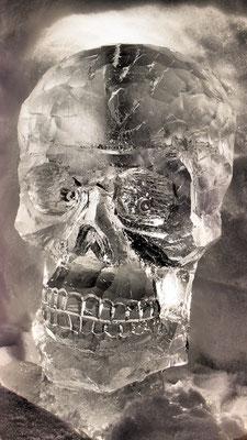 Crâne - Sculpture sur glace - Village Igloo Avoriaz - Manon Cherpe