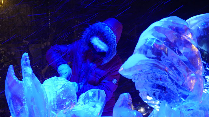 Ange - Sculpture sur glace - Val d'Isère - Manon Cherpe