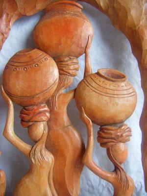 Afrique - Sculpture sur bois - Tilleul - Manon Cherpe