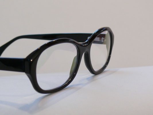 Dunkle Büffelhornbrille Naturhornbrille