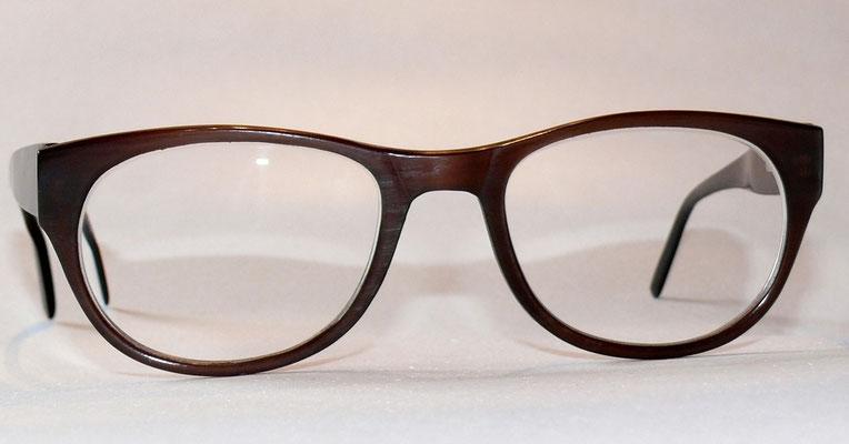 Büffelhornbrille mit Federscharnier