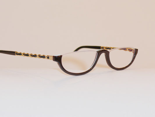 Halbbrille Büffelhornbrille