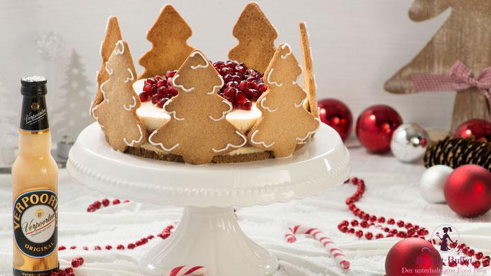 Verpoorten-Spekulatius-Torte mit Granatapfel-Lavendel-Füllung